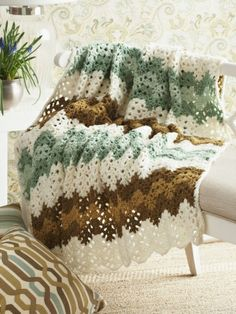 Ripple Afghan | Yarn | Free Knitting Patterns | Crochet Patterns | Yarnspirations
