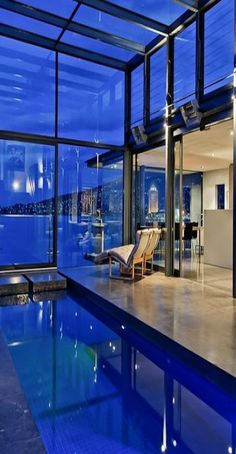 Love this indoor pool! Kay House by Maria Gigney #Architects