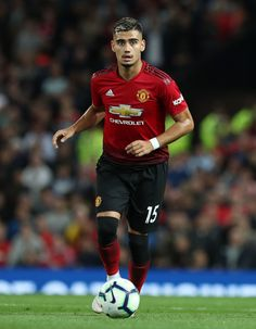 Andreas Pereira of Manchester United in action during the Premier League match between Manchester United and Leicester City at Old Trafford on August 2018 in Manchester, United Kingdom. Get premium, high resolution news photos at Getty Images Barcelona Soccer, Fc Barcelona, Cristiano Ronaldo Lionel Messi, Soccer Girl Problems, Uefa Champions, Soccer Quotes, Soccer Tips, Manchester United Football, Premier League Matches