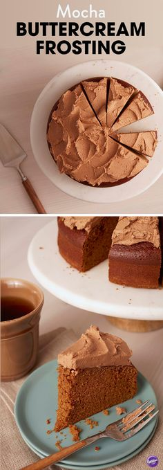 Mocha Buttercream Frosting Recipe - For coffee-lovers, there's no better combination than Mocha Buttercream Icing topping off mocha cake.