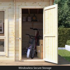 BillyOh Tianna Log Cabin Summerhouse with Side Store - Log Cabins - BillyOh Store Garden Cabins, Garden Houses, Summer House Garden, Home And Garden, Garden Buildings Direct, Shed Makeover, Tongue And Groove Panelling, Solid Doors, Roof Styles