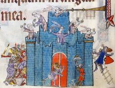 siege of the Castle of Ladies Luttrell Psalter, England ca. 1325-1340 British Library, Add 42130, fol. 75v