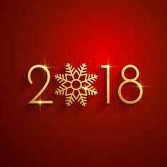 с новым годом 2018 красного золотой фон дизайн, к 2018 году, новый год, счастливыйPNG и вектор