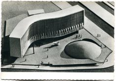 The French Communist Party's six-story tower by Oscar Niemeyer.