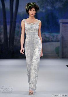 Non Traditional, Blue Wedding Dress Something blue wedding dress. Claire Pettibone Spring 2012. Not Cheap