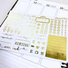 Sampler FOIL | Matte Glossy Clear Foiled Planner Stickers