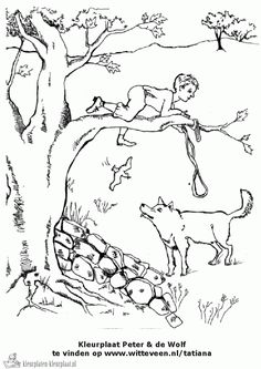 peter and the wolf coloring sheet fun for a homeschool music activity
