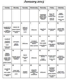 A Month of Meals On A Budget | 31 Days of Dinners for $180 | January 2015 Menu Plan with FREE Printable Grocery List and Recipes