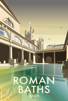 Roman Baths Print at Whistlefish - handpicked contemporary & traditional art that is high quality & affordable. Available online & in store