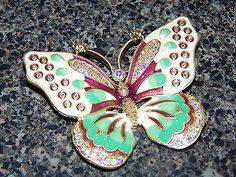 Kenneth Jay Lane KJL Butterfly Brooch Pin   eBay