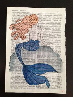 So I've decided might as well try to sell my artwork! Mermaid Watercolor Painting on Etsy - my shop name is MrsDgetsCrafty! $20