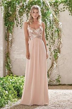 Cheap dresses maid of honor, Buy Quality maid of honor directly from China rose gold bridesmaid dress Suppliers: 2017 Rose Gold Bridesmaid Dresses A Line Spaghetti Straps Backless Sequins Chiffon Wedding Party Dress Maid of Honor Jasmine Bridesmaids Dresses, Sparkly Bridesmaids, Champagne Bridesmaid Dresses, Bridesmaid Gowns, Navy Blue Bridesmaids, Bridesmaid Outfit, Rose Gold Wedding Dress, Wedding Party Dresses, Rose Gold Dresses