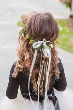 flower girl flower halo @weddingchicks