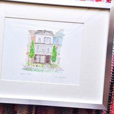 watercolor house portrait / wedding gift / housewarming gift / original art