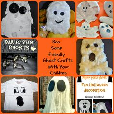Boo some not so scary Ghost Crafts with your children