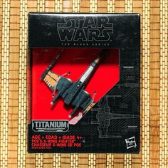 Star Wars Black Series Poe/'s x-wing TITANIUM DIE-CAST Loose complet