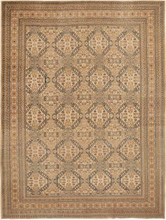 Antique Tabriz Persian Rug 42103 - by Nazmiyal