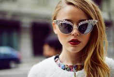 Fancy - Swarovski Crystal Sunglasses by DSquared