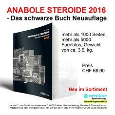 ANABOLE STEROIDE 2016 - Das schwarze Buch Neuauflage, mehr als 1000 Seiten, mehr als 5000 Farbfotos, Gewicht von ca. 3,6, kg - neu im Sortiment ►►► Online bestellen: http://www.active12.ch/…/ANABOLE-STEROIDE-das-schwarze-Buch… ►►► Lagerverkauf: http://www.active12.ch/info/Oeffnungszeiten.html #Anabolika #Steroide #HGH #Testosteron #Insulin #IGF #Ephedrin #Efedrin #Clenbuterol #Muskelaufbau #Bodybuilding #Kraft #Powerlifting #Dulliken #Olten #active12
