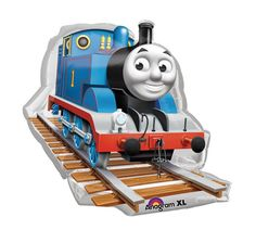 """Supershape 29"""" Thomas The Tank Engine Mylar Balloon Balloons are shipped un-inflated"""