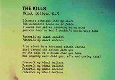 black balloon- the kills