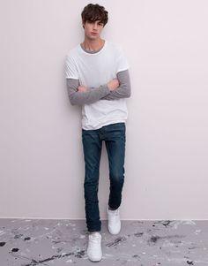 Pull&Bear - man - jeans - basic jeans - blue - 05682551-V2015