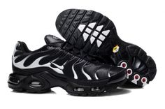 free shipping nike air max tn running shoes mens,2016 tn requin pas cher chaussures homme Flame black white hook A8818