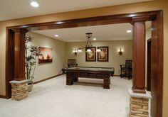 Basement Columns Design Ideas, Pictures, Remodel, and Decor - page 12