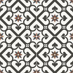 Glazed ceramic with quality, smooth matt finish. Grey Mosaic Tiles, White Tile Backsplash, Ceramic Mosaic Tile, Hall Tiles, Tiled Hallway, Motif Vintage, Style Vintage, Black And White Tiles, White Walls
