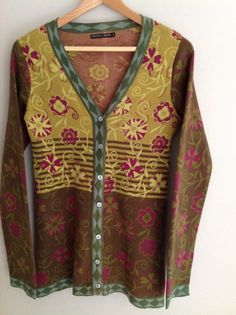 """GUDRUN SJODEN AUTUMN COLOURS CARDIGAN Approx 8/10  ( pit to pit 17.5"""") #Gudrunsjoden #Cardigans"""