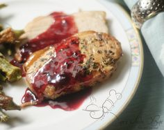 this would be just lovely around the holidays: Rosemary Pork Loin Roast with Red Currant Sauce