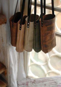 Rustic mini tote bag. Nubuck leather tote by Just Wanderlust.  www.justwanderlust.com