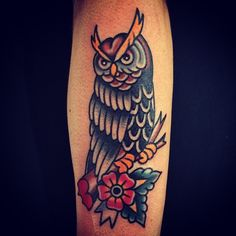 american traditional owl
