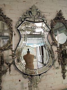 Spectacular Venetian Shield Design Mirror