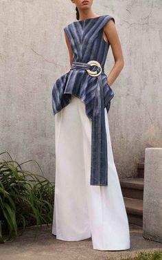 Wide Leg Trousers by CAROLINA HERRERA for Preorder on Moda Operandi