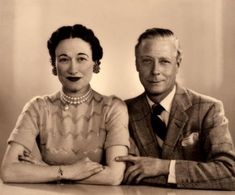Wallis, Duchess of Windsor; Edward, Duke of Windsor by Dorothy Wilding cream-toned bromide print, 7 February 1955 7 1/2 in. x 9 in. (190 mm ...