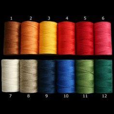Lin thread, great for tablet weaving, from Danish web shop. www.nordulf.dk/shop