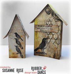* Rubber Dance Blog *: Little Houses - Easter Home Decor by Susanne