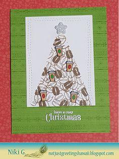 Stampn'HI: Coffee Bean Christmas Tree with Hero Arts