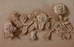 가죽공예-넝쿨장미 3D 카빙(Leather craft-Rose vines 3D carving) | by madisa1