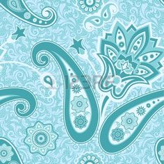 Ornamental floral seamless pattern with paisley Stock Vector