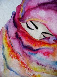 Full color, mujer, oculto, descanso