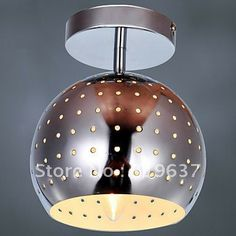Free Shipping Modern Semi Flush Mount in Dotted Black Shade-in Ceiling Lights from Lights & Lighting on Aliexpress.com