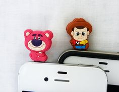 Cell Phone Anti Dust Plugs  Set of 2 Toy Story  Cell by POPStation, $8.00