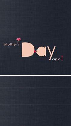 Black background elegant Mother's Day blessing