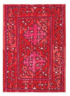 Vloerkleed Kelim Antique Rood-Roze