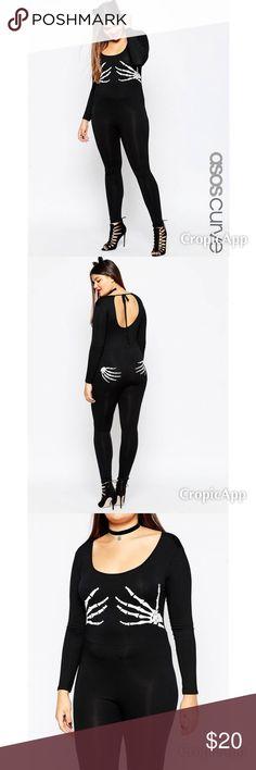 ASOS Halloween Jumpsuit w/ Skeleton Hands. US 16 ASOS CURVE Halloween Bodyfit Jumpsuit with Skeleton Hands - Black /US 16 ASOS Pants Jumpsuits & Rompers