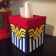 Wonder Woman Tissue Box Cover
