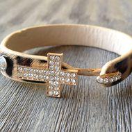 Leopard cross bracelet from styleloveliving $15