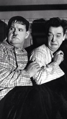 Oliver Hardy and Stan Laurel. Laurel And Hardy, Stan Laurel Oliver Hardy, Classic Comedies, Classic Movies, Vintage Hollywood, Classic Hollywood, Comedy Duos, Abbott And Costello, Old Movie Stars